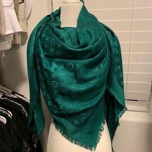 Louis Vuitton money green monogram scarf